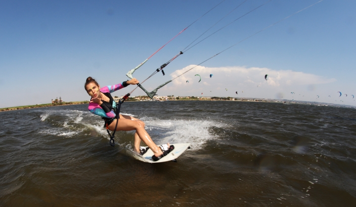 kitesurf beauty in Sicily